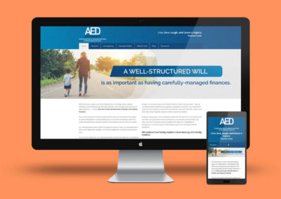Website re-design, Email marketing & Email branding for AED Attorneys