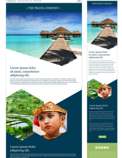 Travel email design