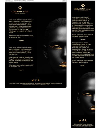 Cosmetics and beauty company newsletter