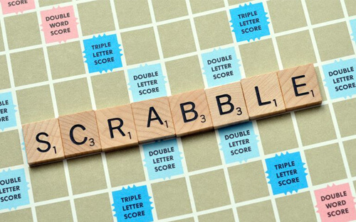 Thys enjoys a good round of Scrabble